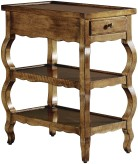 Wavy Leg Tiered Side Table - No. 24-557-1