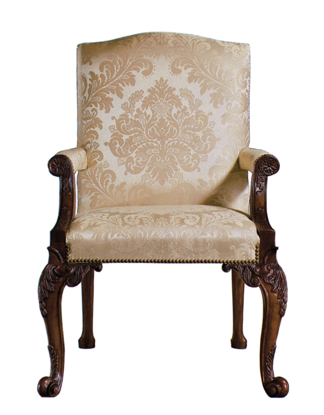 The Stately Homes Collection: Chippendale Mahogany Gainsborough Chair, No. 5033