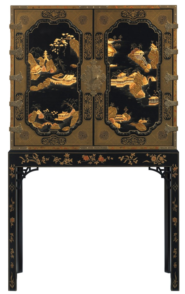 George III Oriental Lacquer Cabinet - The Stately Homes Collection - No. 5370