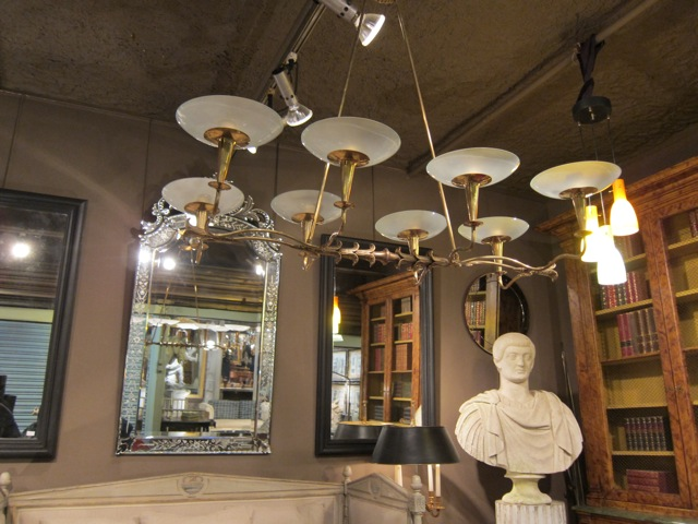 Paris Flea Market - Italian light fixture